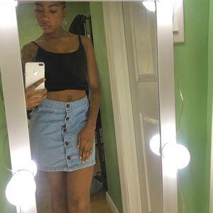 Button down Jean skirt